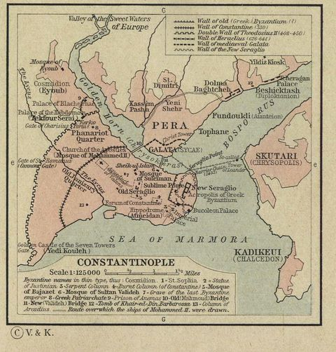Constantinople-Istanbul-Map