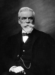 portrait de Ernest Solvay (1838 - 1922). Chimiste et industriel belge. ©MP/Leemage AA095729 dbdocumenti 280 350 300 3308 4134 Scala di grigio